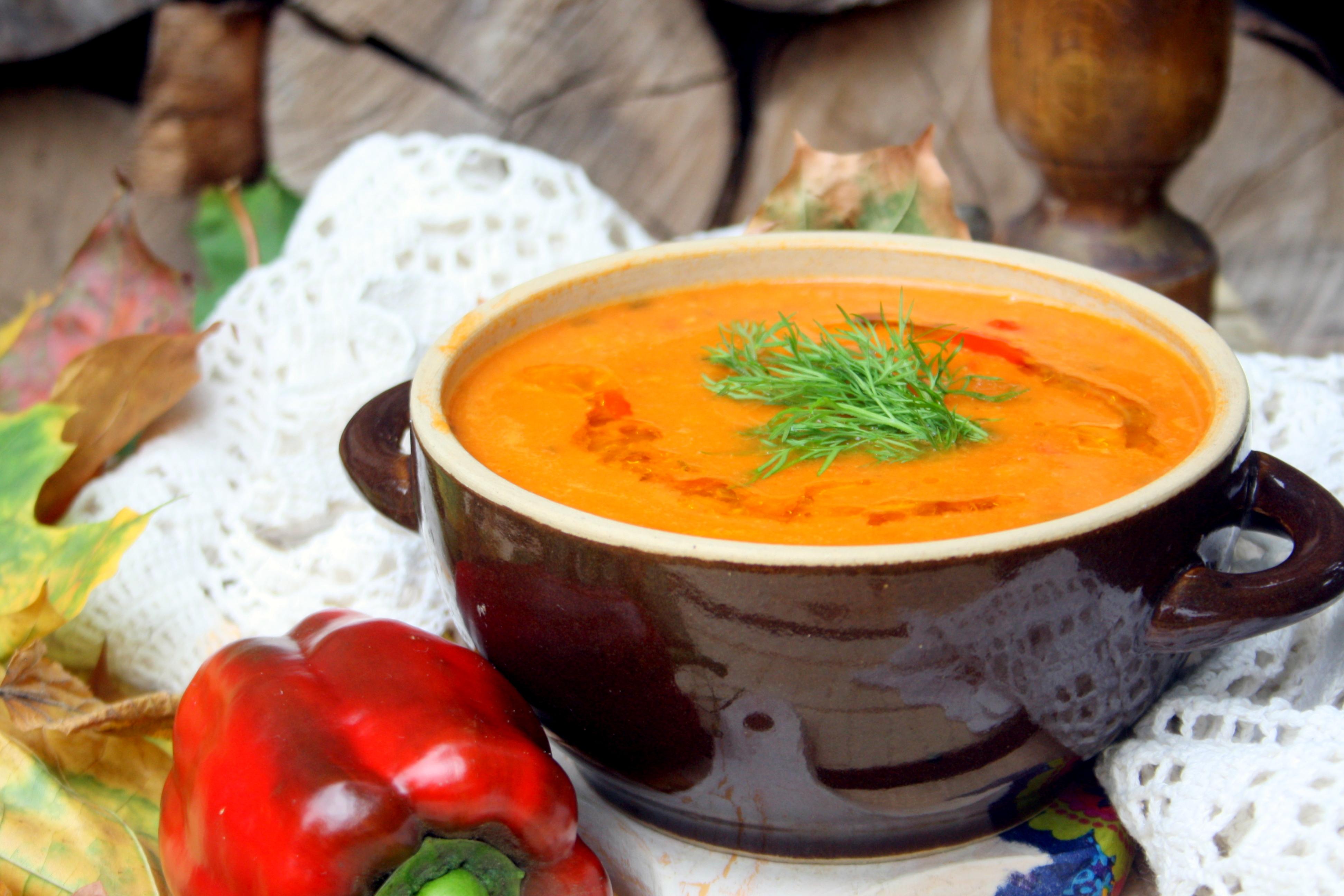 Wloska Zupa Z Ciecierzycy I Pieczonej Papryki Moja Kuchnia Moj
