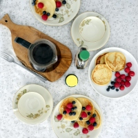 Wegańskie pancakes z tofu